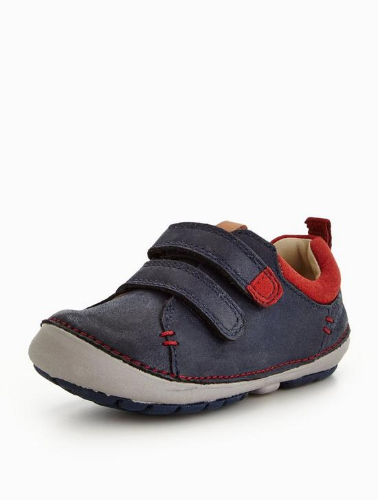 Clarks Tiny Toby Boys First Shoes 5 H Navy