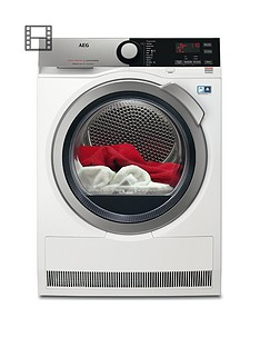 AEG T8DEE845R 8000 Series 8kg Load Sensor Tumble Dryer - White