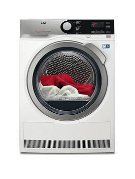 Aeg T8Dee845R 8000 Series 8Kg Load Sensor Tumble Dryer – White