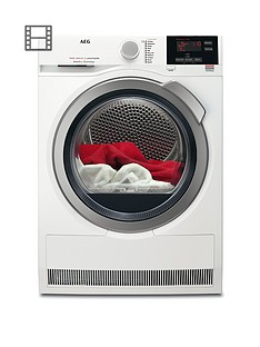AEG T7DBG832R 7000 Series 8kg Load Sensor Tumble Dryer - White Best Price, Cheapest Prices