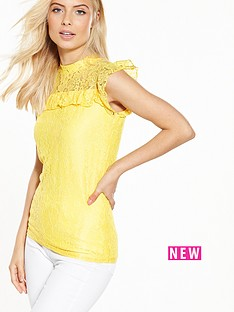 v-by-very-short-sleeve-lace-shell-top