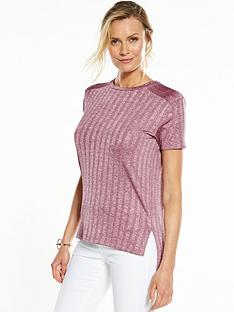 v-by-very-metallic-rib-jersey-top-pinknbsp