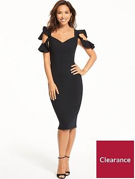 myleene-klass-ruffle-sleeveless-dress-black