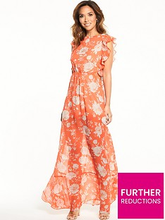 myleene-klass-ruffle-cut-out-maxi-dress