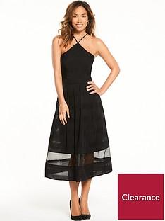 Myleene Klass Organza Midi Dress - Black 97830a319