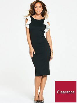 myleene-klass-ruffle-shoulder-bodycon-dress