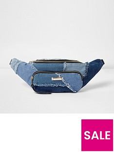 river-island-patchwork-denim-bumbag
