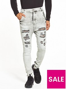 sik-silk-super-skinny-ripped-jeans