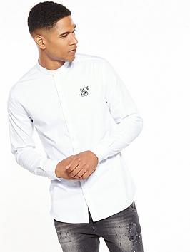 sik-silk-grandad-collar-shirt