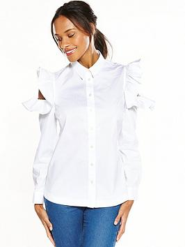 v-by-very-cold-shoulder-ruffle-shirt-white