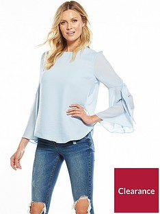 v-by-very-tie-sleeve-blouse