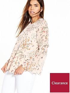 v-by-very-tie-sleeve-printed-blouse