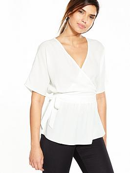 v-by-very-tie-wrap-blouse