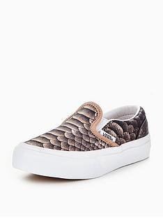 vans-vans-classic-slip-on-metallic-snake-childrens-trainer