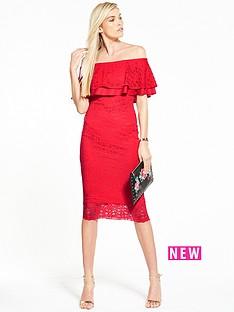 v-by-very-lace-bardot-frill-dress