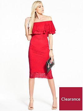 v-by-very-lace-bardot-frill-dress