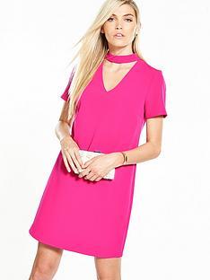 v-by-very-high-neck-choker-dress