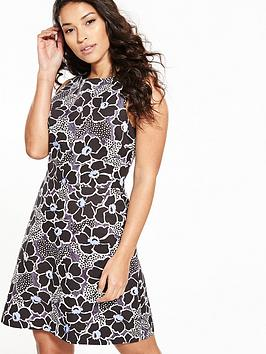 warehouse-wood-block-floral-print-dress