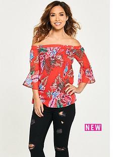 myleene-klass-tropical-printed-bardot-blouse