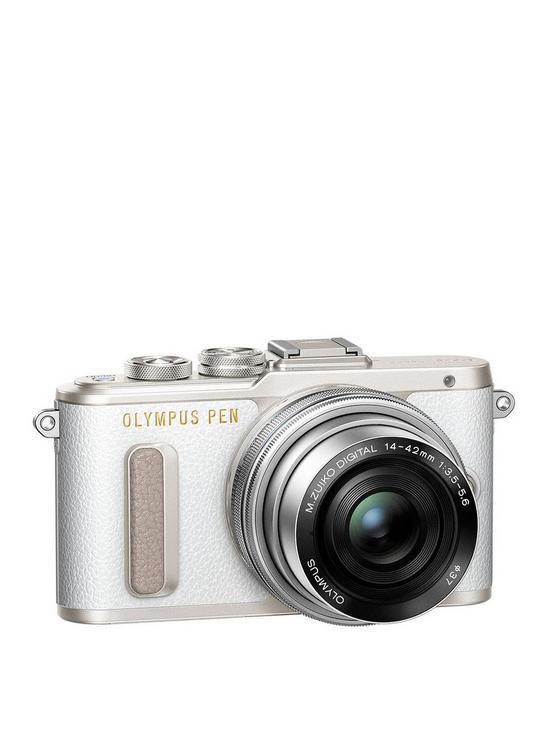 c74aa27e2d Olympus PEN E-PL8 Camera White ED 14-42mm M.Zuiko EZ Pancake Lens Kit