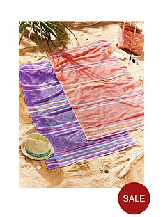catherine-lansfield-rainbow-coral-beach-towels-2-pack