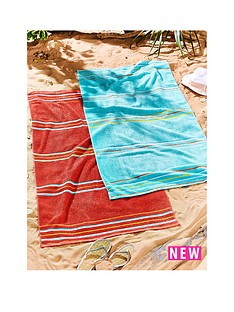 catherine-lansfield-rainbow-red-beach-towels-2-pack