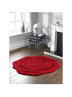 rose-shaped-wool-rug