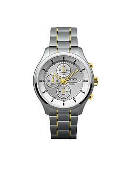 seiko-gents-silver-dial-two-tone-bracelet-watch