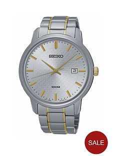 seiko-seiko-gents-silver-dial-two-tone-quartz-bracelet-watch