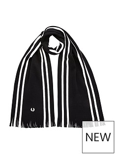 fred-perry-college-stripe-scarf