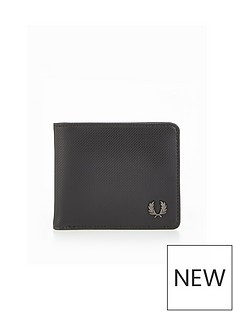 fred-perry-pique-texture-billfold-wallet