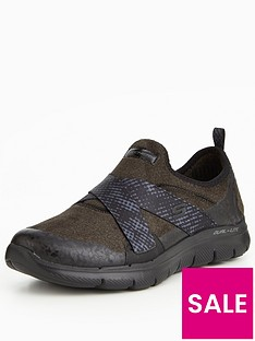 skechers-flex-appeal-20-bright-eyed-cross-strap-plimsoll-black