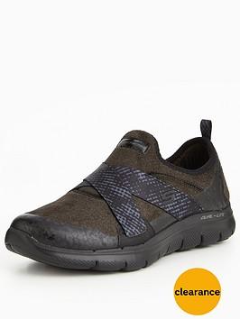 skechers-flex-appeal-20-bright-eyed-cross-strap-plimsoll-black