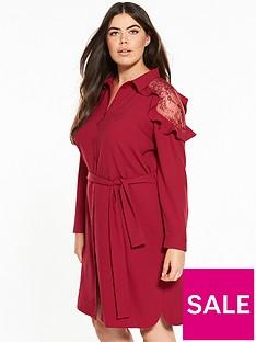 v-by-very-curve-lace-tie-waist-shirt-dress