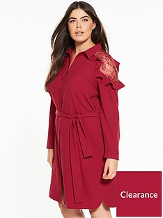 v-by-very-curve-lace-tie-waist-shirt-dress