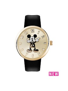 mickey-mouse-mickey-mouse-classic-dial-black-leather-strap-ladies-watch