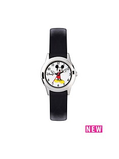 mickey-mouse-mickey-mouse-classic-small-dial-black-leather-stap-ladies-watch