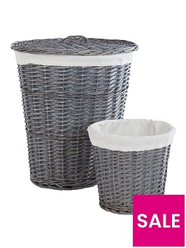 split-willow-laundry-hamper-amp-bin-set