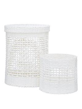 white-paper-crochet-laundry-basket-and-bin-set