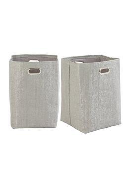 glitter-paperloom-laundry-bags--nbspset-of-2nbsp