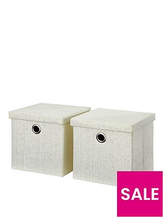 set-of-2-glitter-paperloom-folding-lidded-cube-boxes