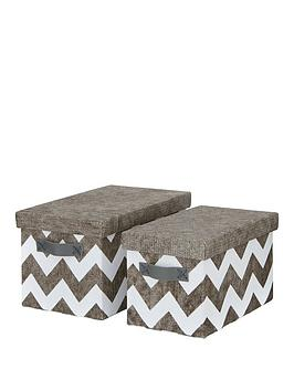 set-of-2-chevron-lidded-storage-boxes