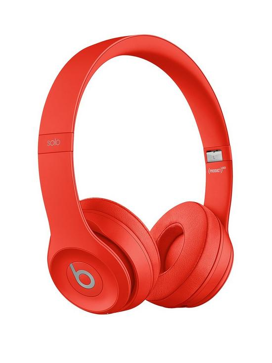 94523d92274 Beats by Dr Dre Solo 3 Wireless On-Ear Headphones - Red | very.co.uk