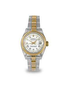 pre owned rolex very co uk rolex rolex preowned datejust white r numeral dial ladies watch ref 69173