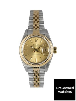 rolex-rolex-preowned-datejust-champagne-baton-dial-ladies-watch-ref-69173