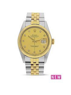 rolex-rolex-preowned-datejust-original-champagne-dial-bimetal-ladies-watch-ref-16013