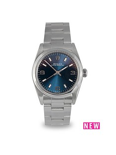 rolex-rolex-preowned-oyster-perpetual-blue-dial-midsize-watch-ref-77080