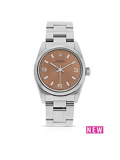 rolex-rolex-preowned-oyster-perpetual-salmon-dial-midsize-watch-ref-67480