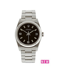 rolex-rolex-preowned-oyster-perpetual-black-dial-midsize-watch-ref-67480