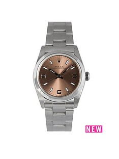 rolex-rolex-preowned-oyster-salmon-dial-midsize-watch-ref-67480